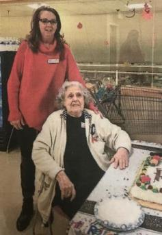 Margaret, Store Manager At The Elliot Street Stop & Shop # 81, Poses For A Photo With Josephine, Who Retired After 28 Years Of Service. She Will Be Missed!
