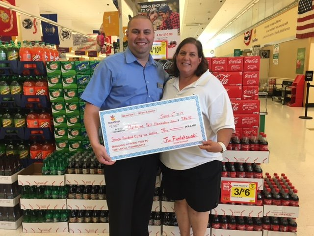 Store 731 Presents A $786 A+ Rewards Donation To Claiborne Pell Elementary School