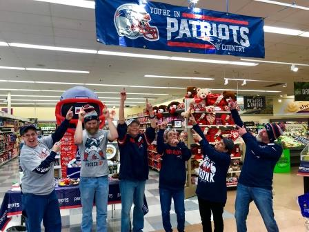 Store 2403 Getting Exciting For The Super Bowl. Go Pats!