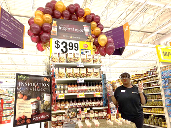 Cassie At Store 813 Helps Promote Our New Taste Of Inspirations Brand.
