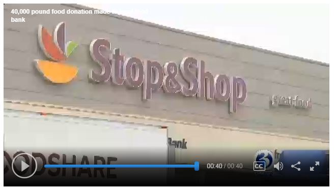 Stop & Shop Donates 40,000 Lbs. Of Food To Foodshare