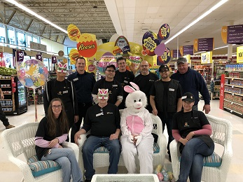 Store #2613 Held A Community Easter Event In The Store. We Had The Easter Bunny, Face Painting, Egg Search, And Giveaways! Pictured Are The Store Team Leads That Helped Make It A Huge Success!