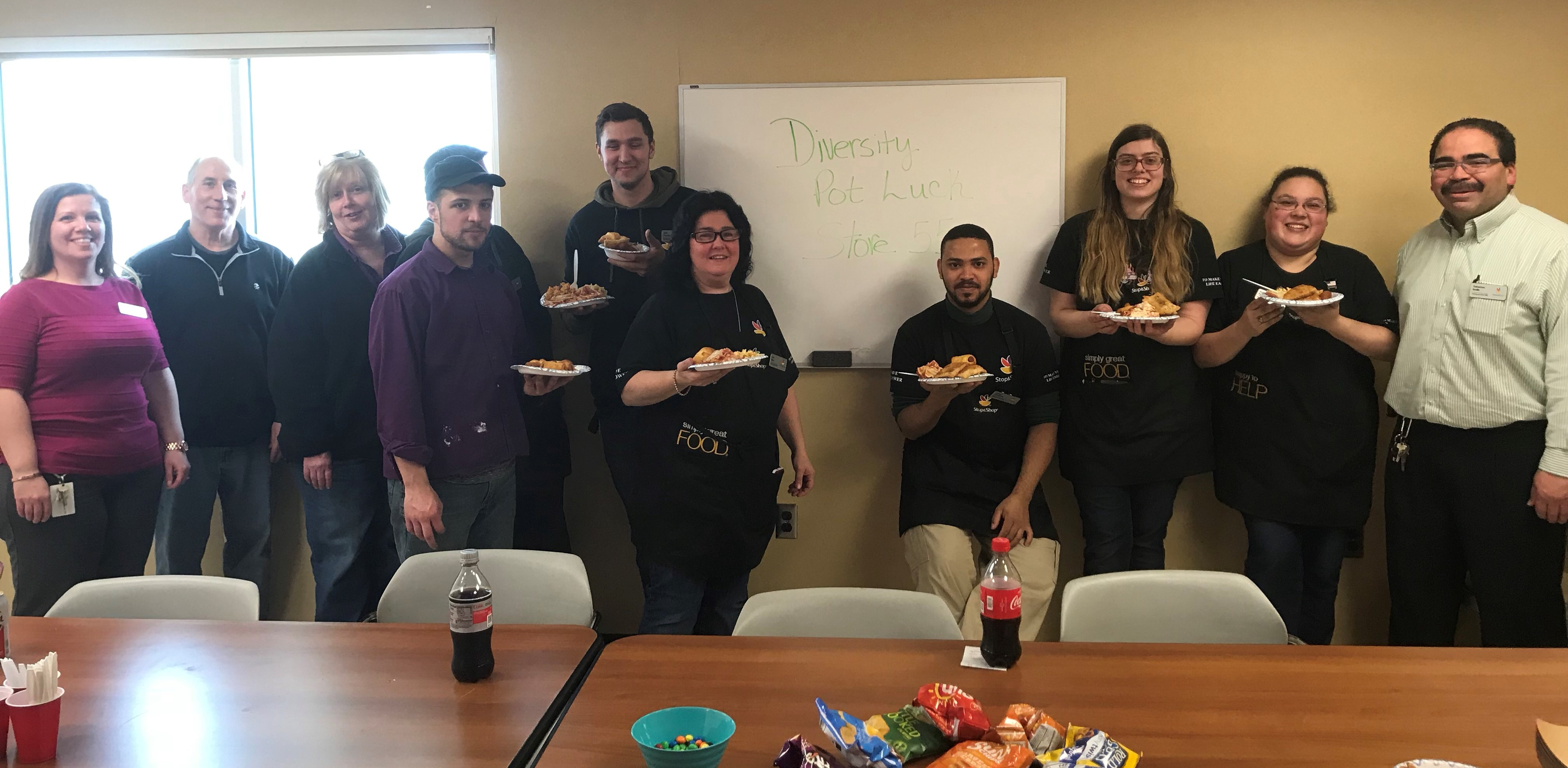 """Today Store 55 Celebrated Diversity With """"pot Luck From Around The World."""" Associates Made Entrees From Their Ethnic Backgrounds, Giving Them The Opportunity To Talk With Each Other About Their Culture."""