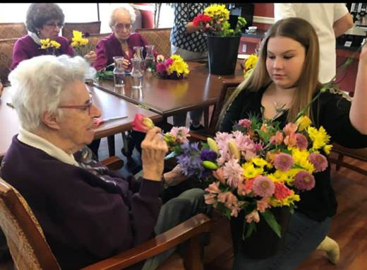 Brightview Senior Living In North Andover Gave A Big Thank You To Our Talented Volunteers (Christine, Tammy And Emily) From Stop & Shop North Andover For Their Generous Donation Of Flowers And Arrangement Guidance! How Gorgeous Are These Flower Arrangements? Spring Has Certainly Sprung Here At Brightview North Andover.