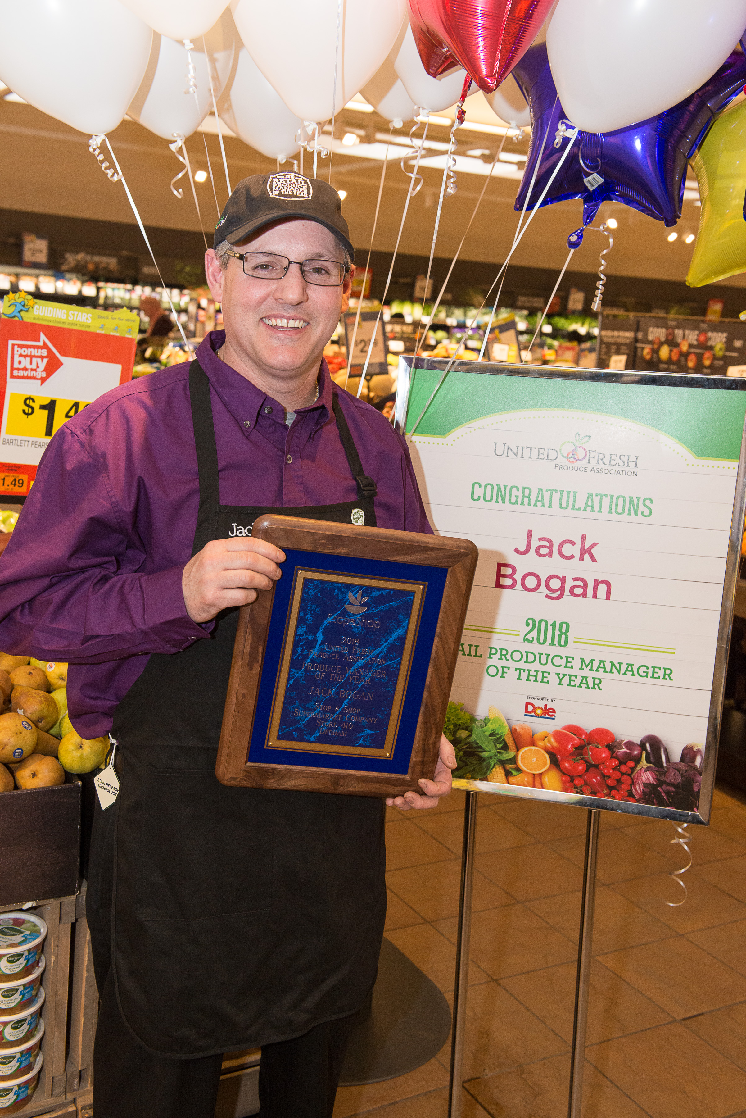 "Dedham Produce Manager Receives ""Retail Produce Manager Of The Year"" Award"