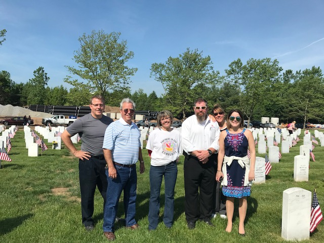 A Group Of Stop & Shop Associates Volunteered On Memorial Day To Assist In Placing Over Flags On Each Veteran Grave Stone In Middletown, Conn. In All, 12,000 Flags Were Placed That Morning. Thanks Go Out To Erin (Store 686), Ernie (Store 607), Judy (Store 638), Scott (Store 638), And Ellen (Store 614).