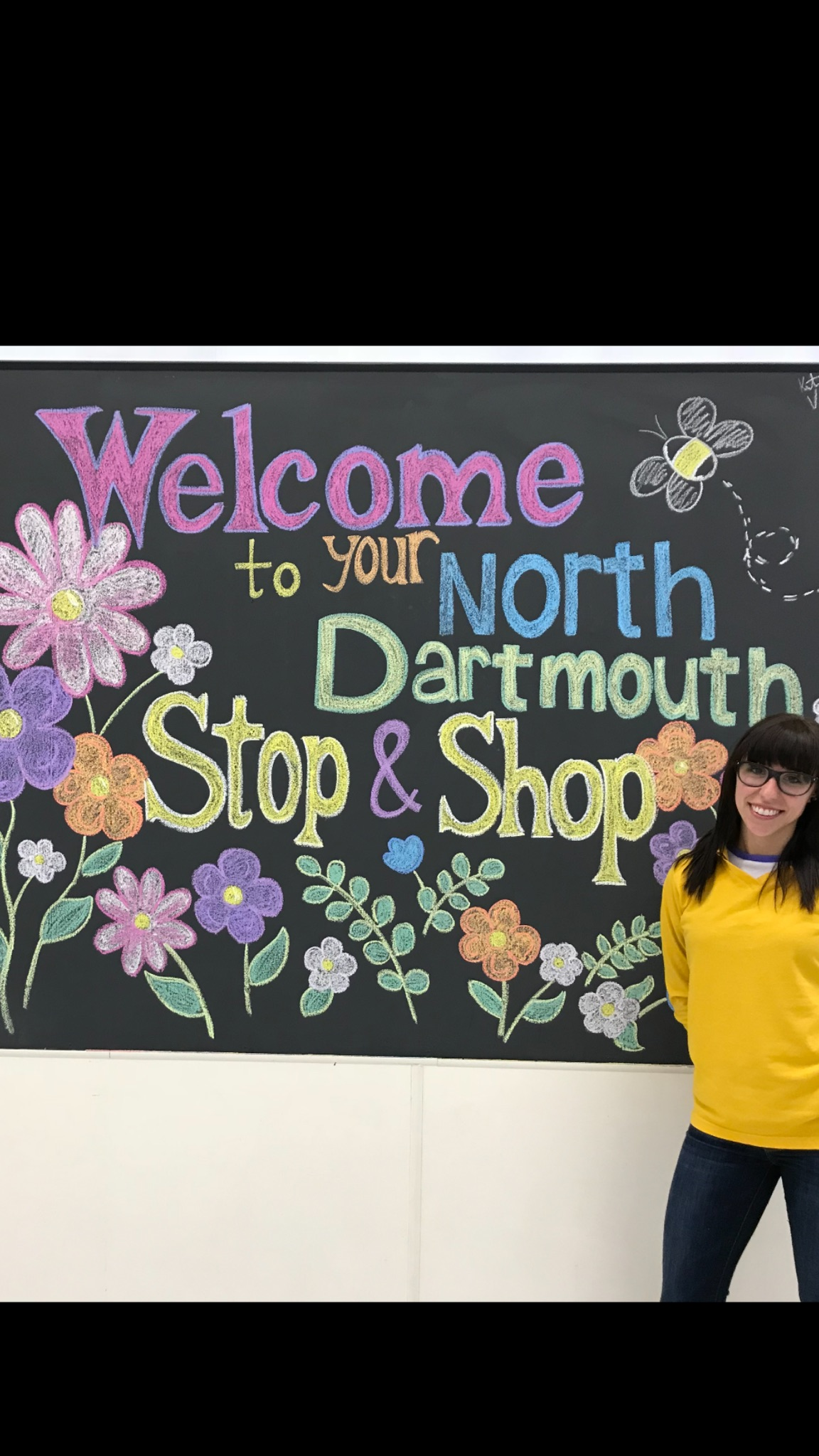 Kristen Is Our Cake Decorator In Store 493. You Can Tell By Her Great Talent That She Loves Art. Kristen Did This Beautiful Mural To Welcome Our Customers Into Our Store And All The Customers Love It. She Has Been With Stop & Shop For 11 Years. Great Job Kristen!