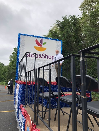 John Encke, Store Manager Of Wyckoff, NJ, Rides A Float In The Local Memorial Day Parade.