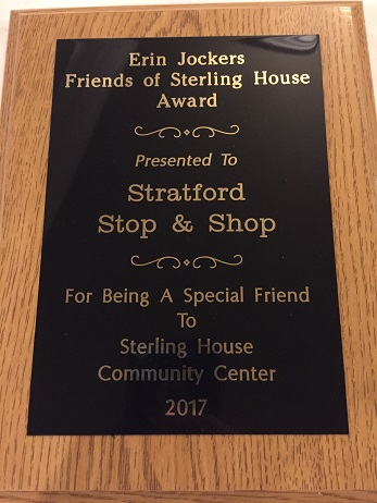Store #639 Received A Community Award From The Sterling House In Stratford For All The Work Michele Witcher And  The Store Has Done For Them. Congratulations!